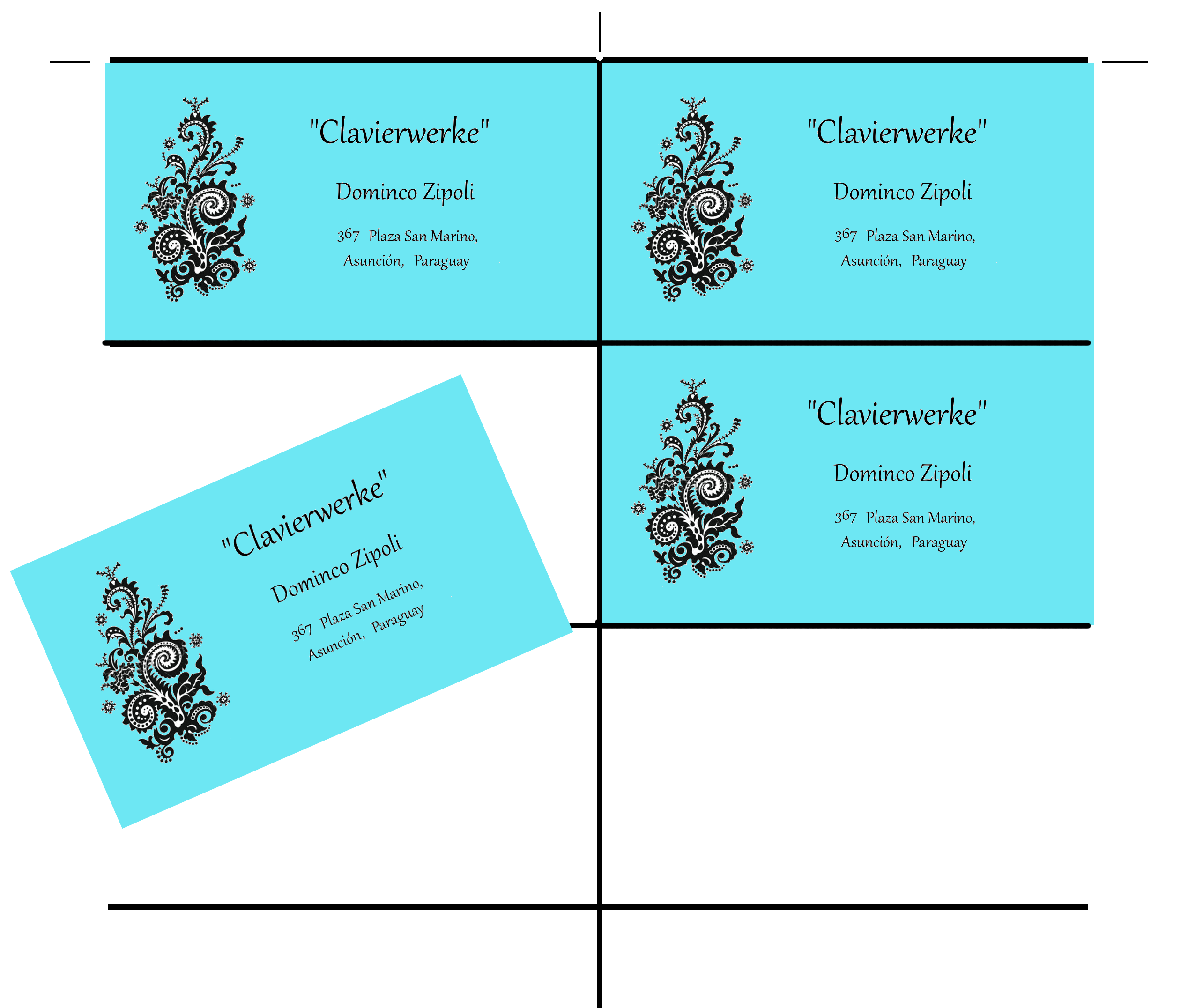 ten card template for gimp business cards