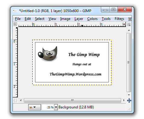 Ten Card template for Gimp Business Cards   Wimpy Tricks for